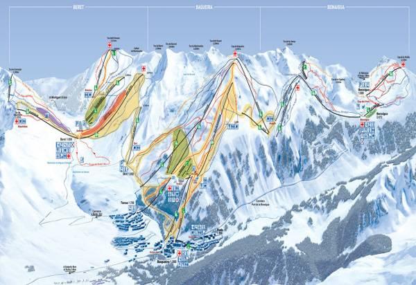 Plano estación esquí Baqueira Beret