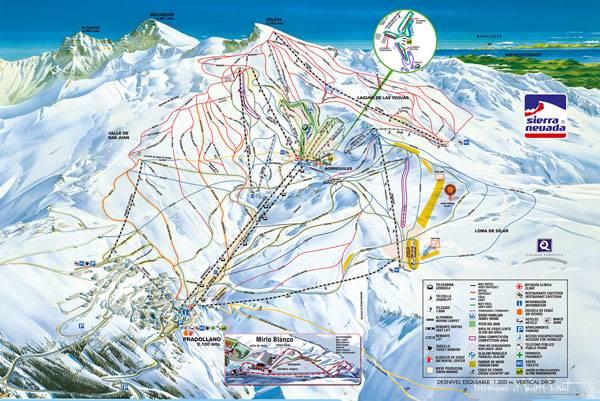Plano estación esquí sierra nevada