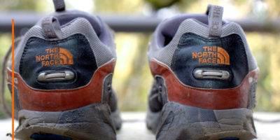 desgate zapatilla correr