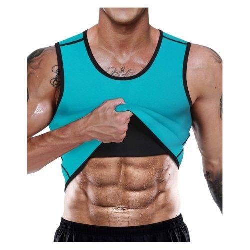 LaLaAreal Faja Reductora Adelgazante Hombre Neopreno Camiseta Reductora Compresión de Sauna Deportivo