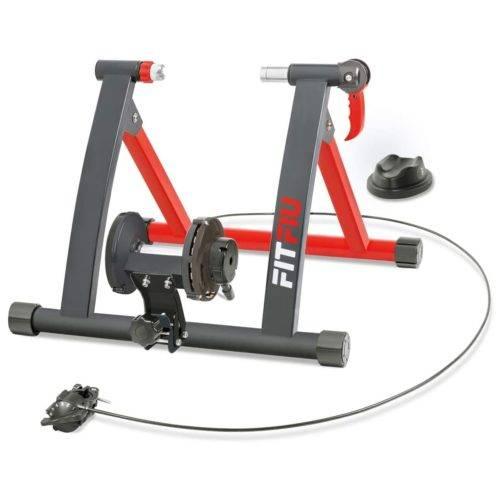 FITFIU Fitness ROB-10 Rodillo para bicicleta plegable con resistencia magnética, Rodillo ciclismo indoor compatible con ruedas de 26 pulgadas a 29 pulgadas para entrenamiento en casa